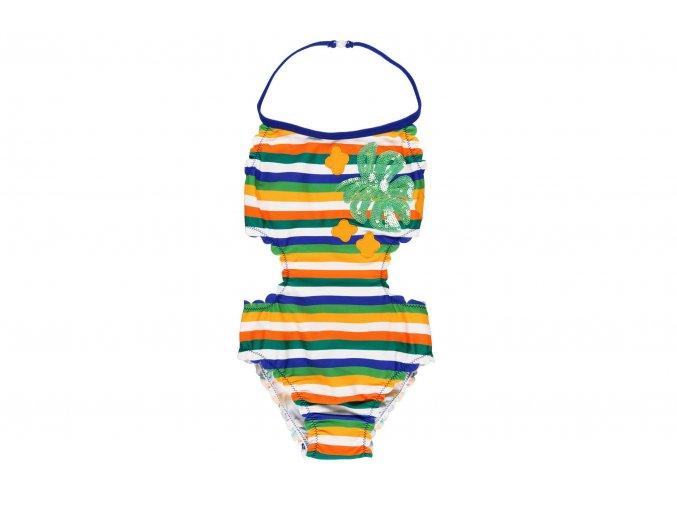 Dívčí plavky trikiny pruhované8220579457 a