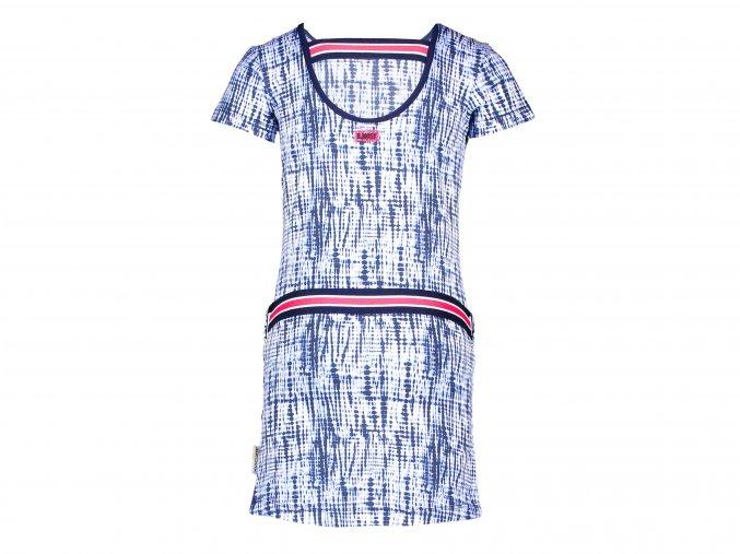 Dívčí strečové šaty modrá batikaY103 5873 141 1