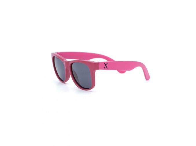 Barevné dětské sluneční brýle růžové borůvka pro holčičku UV filtr polarizovaná skla Maximo holčička