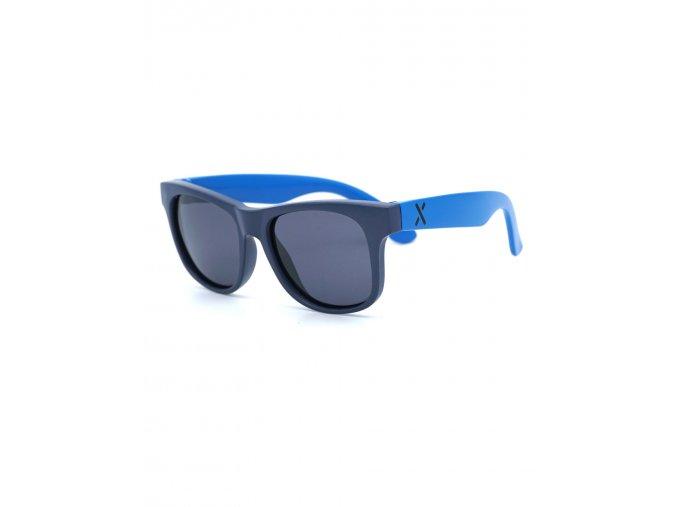 Dětské sluneční brýle modré pro chlapečka s UV filtrem polarizační skla Maximo hranaté dětské brýle Justin classic 13303-963700-50