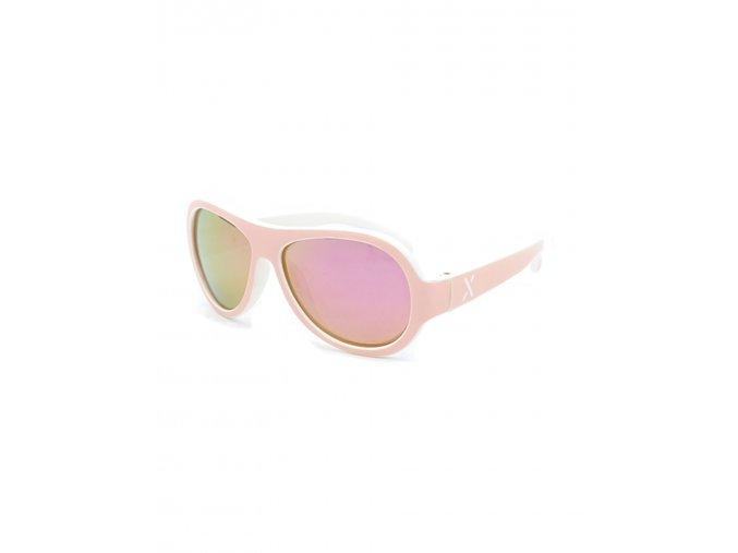 Dětské sluneční brýle letecké Aviator růžové holka Maximo brýle s UV filtrem a polarizačními skly 13303 963800 0020