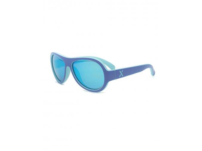 Dětské sluneční brýle letecké Aviator modré denim kluk holka Maximo brýle s UV filtrem a polarizačními skly lehké 13303 963800 0040