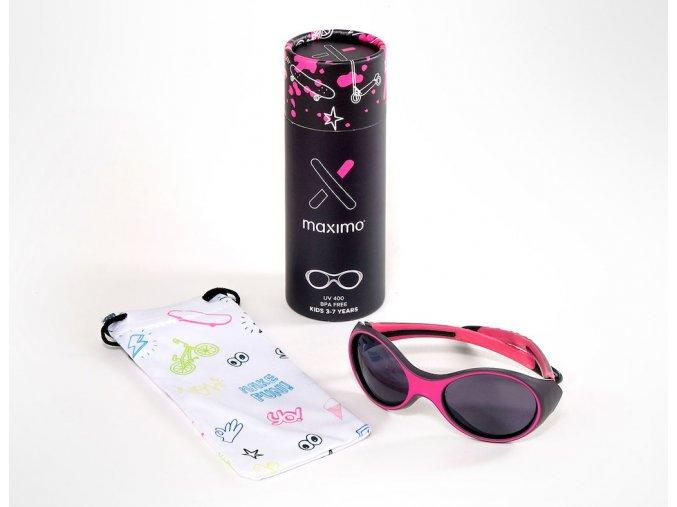 Dětské sluneční brýle sport holka růžové Maximo brýle s UV filtrem a polarizačními skly oválné13303 963800 0057