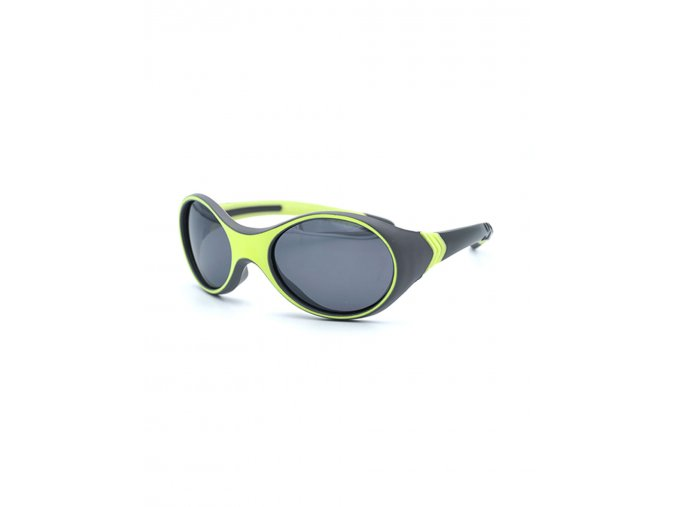 Dětské sluneční brýle sport svítivě zelené šedé kluk i holka Maximo brýle s UV filtrem a polarizačními skly oválné 13303 963600 0068