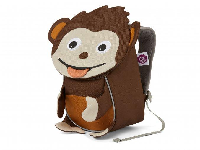Dětský hnědý batůžek pro malé děti Opička do jeslí a výlety s reflexy Affenzahn