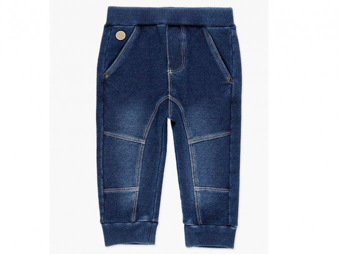 Modré tepláky kluk moderní švy jean džíny Boboli 398033BLUE a