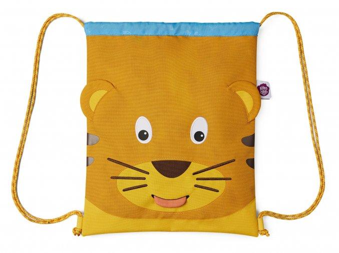 Dětský batůžek lehky sportovní pytlík žlutý Tygřík Affenzahn