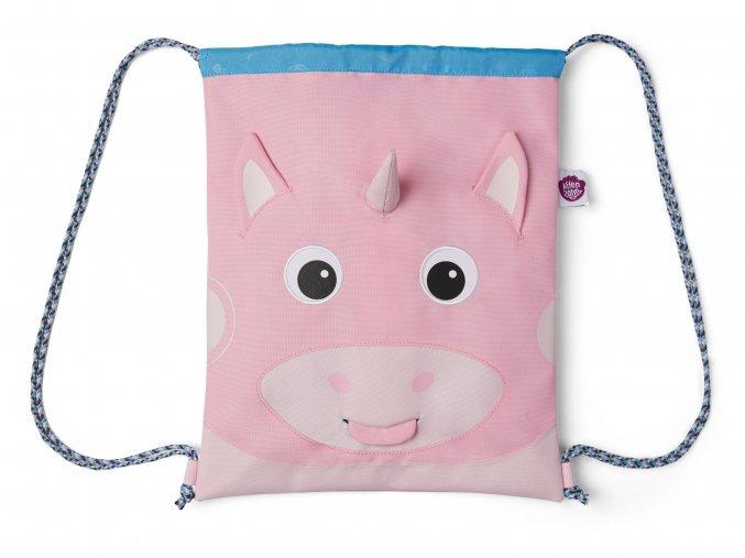 Sportovní sáček pro holčičku růžový jednorožec Affenzahn