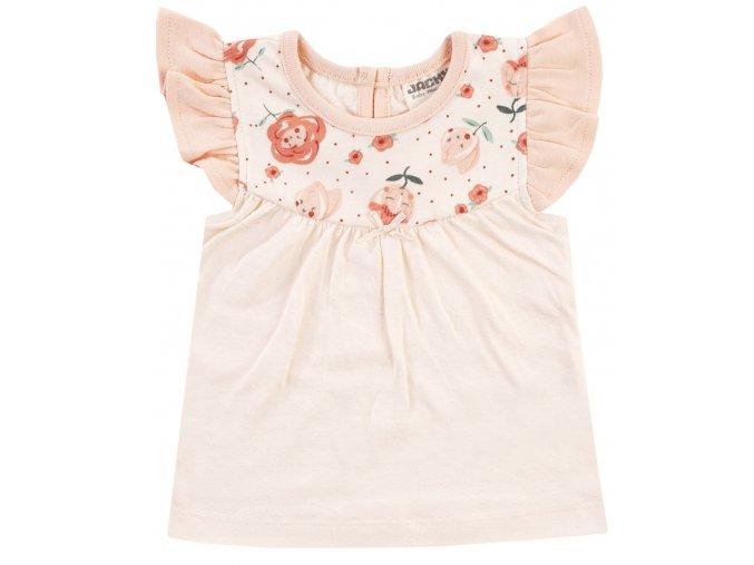 Kojenecké tričko pro holčičku krátký rukáv růžové Růženka