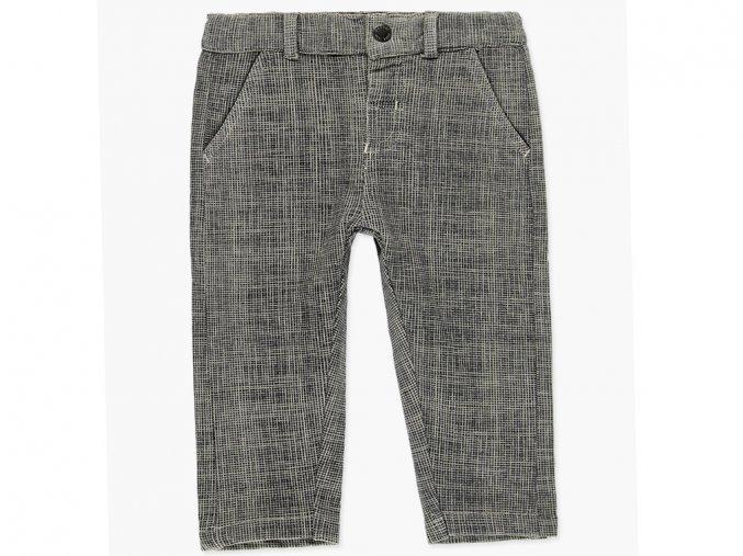 Dívčí teplé kalhoty s moderní jemnou nitkovou pleteninou do kostky a s podšívkou hřejivého fleecu.