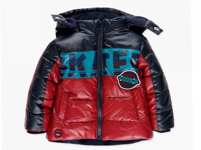 Klučičí bunda červená modrá lehká teplá kluk Boboli