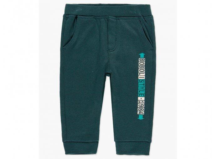 Chlapecké Tmavě zelené tepláky pro kluka fleece značkové Boboli