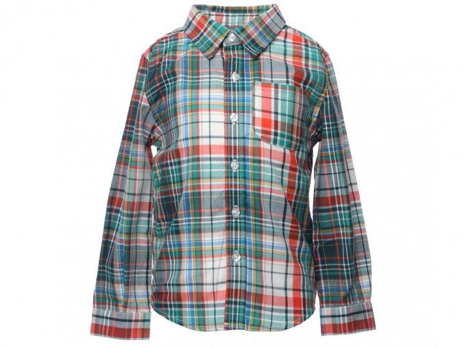 <p>Chlapecká kostkovaná košile Oxford v odlehčené gramáži zajišťuje vzdušnost a prodyšnost a příjemně se nosí. Dlouhý rukáv. Půlkulatý střih spodního lemu. Klasický knoflíkář.</p>