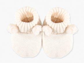 Capáčky kojenecké bílé