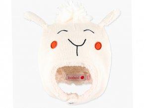 <p>Pletená čepička s výšivkou ovečky, zapínáním přes uši na knoflík a s teplou podšívkou z jemného chlupatého fleecu. Unisex</p>