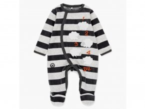 <p>Pružný kojenecký overal z jemného sametu (bavlněný velur) s dlouhými rukávy a nohavicemi, s celkovým zapínáním od krku až po patu pro snadné oblékání miminka. </p>