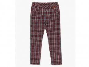 <p>Dívčí strečové kalhoty z kostkovaného bavlněného úpletu a s teplou fleecovou podšívkou. Skvěle udrží původní tvar, jsou pružné a velmi pohodlné. </p>