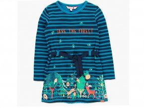 Mikinové šaty holka výprodej pruhované dlouhý rukáv modré les Boboli 4582212440 a