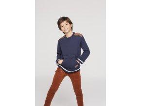 Klučičí kalhoty strečové skořicové manžestr Boboli kluk model