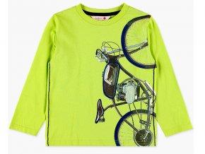 Chlapecké bavlněné tričko s dlouhým rukávem a s 3D moto bikem