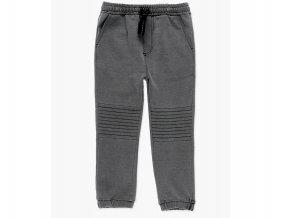 Klučičí tepláky šedé dlouhé prošitá kolena Boboli kluk
