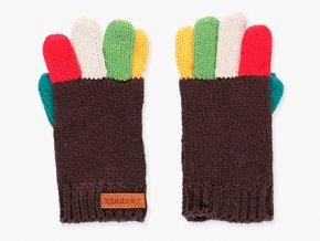 <p>Dívčí pletené rukavice s příměsí mohéru pro teplé pohodlíčko. Silnější gramáž. Barevná kombinace prstů, jakoby pruhů v barvách lentilek. S drobným koženým logem značky na žebrovém lemu.</p>