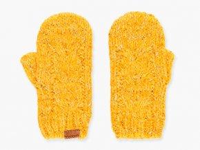 Dívčí palčáky z velmi měkkého a příjemného materiálového složení hořčicově žluté barvy