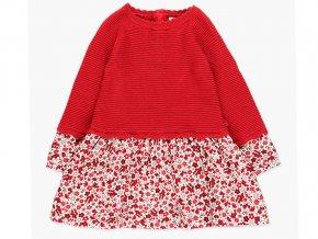Kombinované dívčí pletené šaty červené Boboli  a