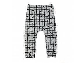 Klučičí kalhoty šedo černé