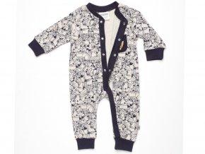 Pyžamo pro mimi se zvířátky overal s dlouhým rukávem a nohavicemi bez ťapek Jacky K 18895