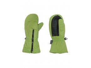 Dětské voděodolné (waterproof) a prodyšné palcové rukavice zateplené fleecem s dlouhým zipem pro snadné oblékání.