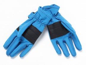 Dětské softshelové rukavice modré K 13836