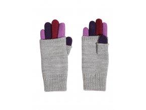 Dívčí pletené prstové rukavice s kratší horní vrstvou, zateplené velmi jemnou, měkkou a příjemnou pleteninou.