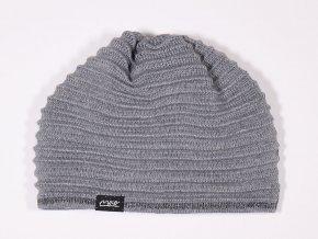 Pletená čepice Stříbrná Vlna (Barva šedá, Velikost 57 mm)