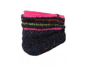 Dívčí zimní nákrčník s příměsí vlny, pletený hrubým vzorem, a příjemnou fleecovou podšívkou.
