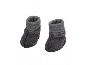 Dětské teplé boty z vlněného flanelu silnější gramáže (kompaktní, neprofoukne, a je prodyšný). Měkké botičky pro chladné dny udrží nožičku miminka v teple.