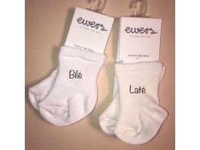 Froté ponožky pro novorozeně (Barva Bílá, Velikost EU 14-15)