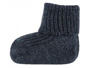 Vlněné ponožky Tma (Barva šedá - antracit, Velikost EU 18-19)