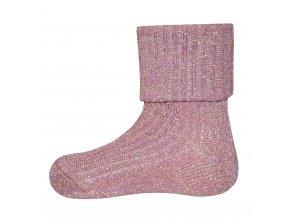 Ponožky se zlatou nití Rose (Barva hnědá, Velikost EU 35-38)