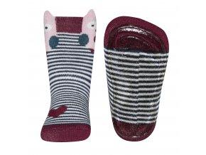 Ponožky s protiskluzem Sovička (Barva barevná, Velikost EU 25-26)