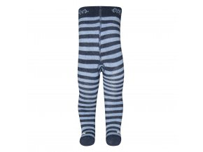 Pruhované zimní punčocháče Hvězdička (Barva Modrá, Velikost EU 92)