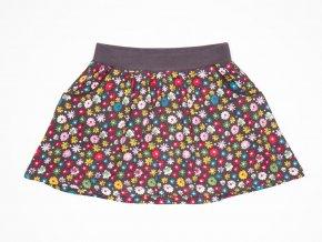 Barevná dívčí sukně s kapsami z viskózy kolová sukně s kytičkami Boboli Barevné květy