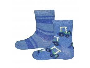 205140 002 2erPack Chlapecké ponožky Bagr (2 páry) proužky