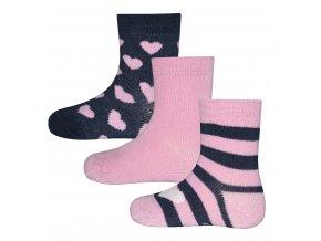 Holčičí růžové ponožky
