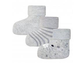 205139 002 3erPack Dětské termo ponožky šedý Myšák (3 páry)
