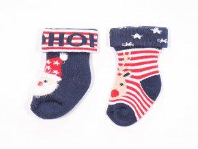 2474 novorozenecke termo ponozky santa 2 pary