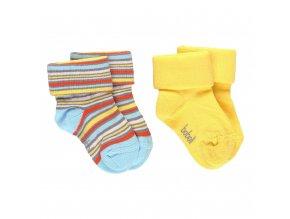 kojenecké ponožky bavlněné 2 páry žluté pruhované1990091135 a