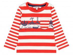 Chlapecké pruhované tričko dlouhý rukáv Námořník červenobíle pruhované kluk Boboli 100% bavlna léto 3090249327 a