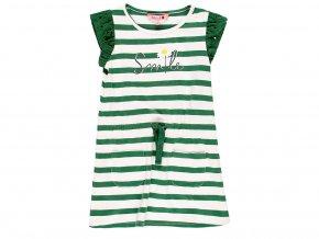 Dívčí pruhované šaty Kopretina zelenobílé bavlněné holčičí šaty na doma 4091049289 a