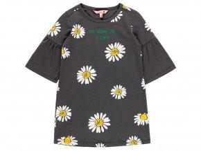 Dívčí šaty Kopretina tmavě šedé šaty holka 4091608076 a